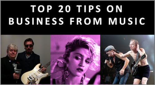 Top 20 Business Lessons from Music