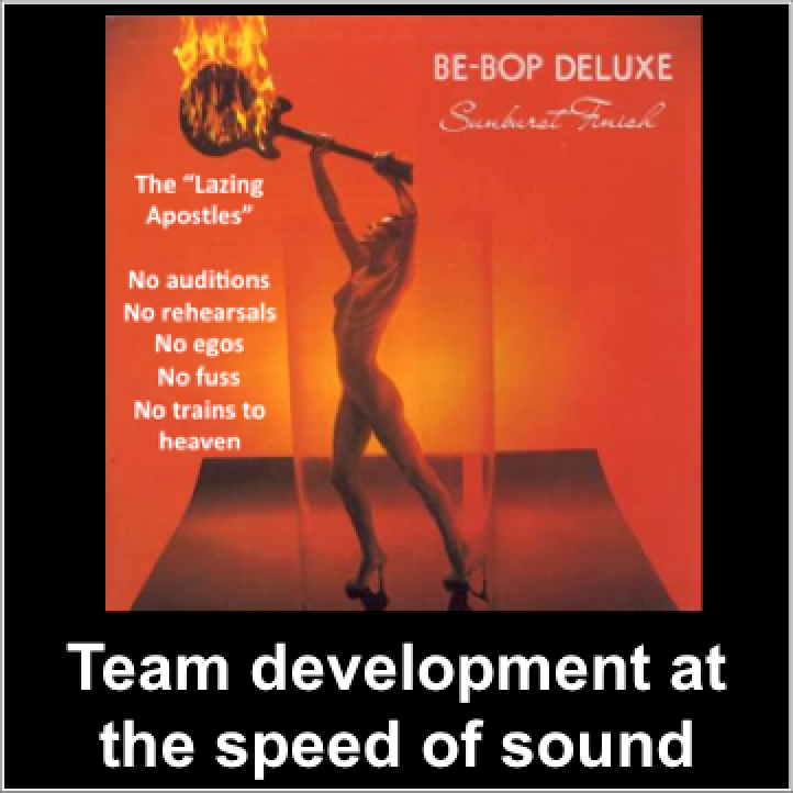 Teamwork with music, Be-Bop Deluxe
