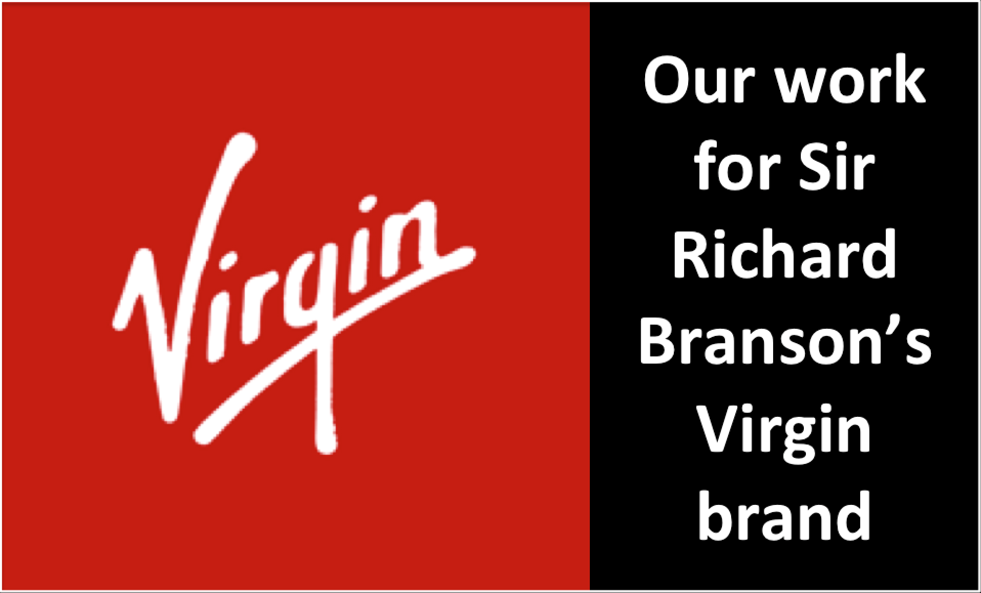 Peter Cook's work for Sir Richard Branson's Virgin Brand
